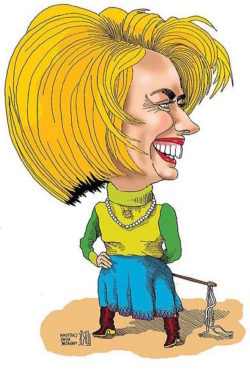 Hillary Clinton, femme fatale of Socialist revolution.