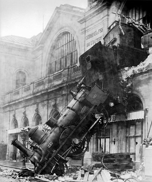"Trumponomics ends in a train wreck? (Photo credited to the firm Levy & fils by this site. (It is credited to a photographer ""Kuhn"" by another publisher [1].) (the source was not disclosed by its uploader.) [Public domain], via Wikimedia Commons)"