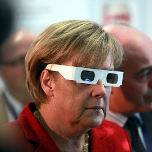 Angela Merkel's euro crisis is back ... in 3D