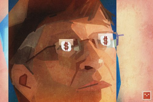 Bill Gates has dollar signs in his eyes as he envisions a cashless society
