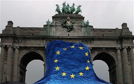 Brussels-Arch now a symbol of the euro crisis