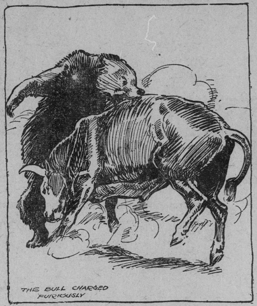 HM Stoops? (the name signed to 2 of the 6 illustrations on the page of the newspaper—they all seem to be from the same hand, despite this particular image is unsigned) [Public domain], via Wikimedia Commons
