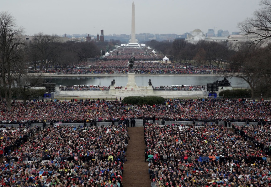 Trump's inauguration crowd fills the National Mall