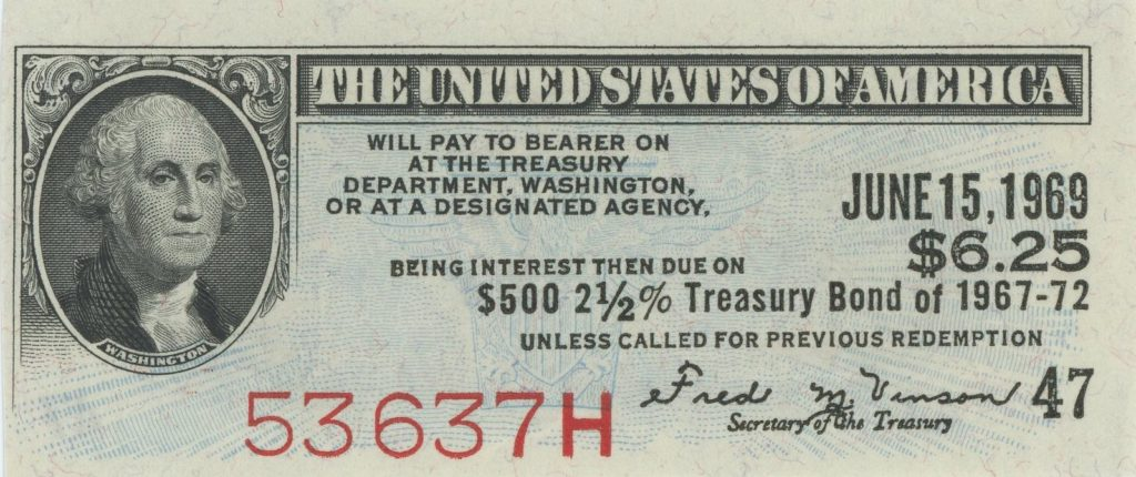 Coupon interest is part of bond yield. Coupon can be cashed by anyone who has possession of it on the date given on the coupon. ( JHerbstman [CC BY-SA 4.0 (https://creativecommons.org/licenses/by-sa/4.0)], from Wikimedia Commons)