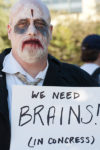 Zombie economists bring on US 2016 recession. (Photo by Charlie Llewellin (Flickr: Occupy Austin) [CC BY-SA 2.0 (https://creativecommons.org/licenses/by-sa/2.0)], via Wikimedia Commons)